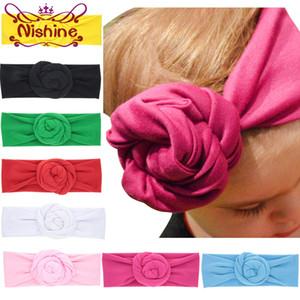 시네 새로운 아기 로즈면 혼방 Headwraps 겨울 따뜻한 터번 여자 타이 매듭 머리띠 밴듀 비비 크리스마스 선물