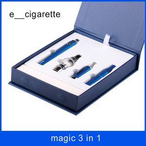 magische 3 in 1 elektronische Zigaretten mit Wachsverdampfer vor MT3 Glass Globle Zerstäuber EVOD Batterie-Zerstäuberfeder geben Verschiffen frei