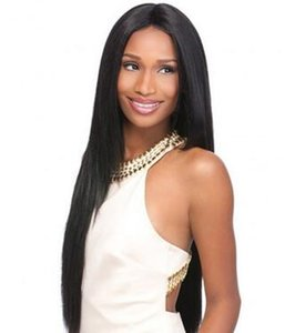 high quality long straight wig simulation human hair wigs for black women free shipping in stock