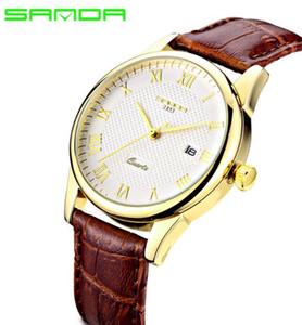 Brand Sanda watches Korean fashion diamond waterproof diamond belt quartz watch male couple student watches