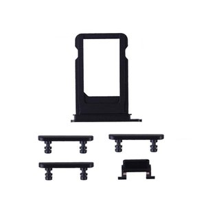 Sim Card Tray Holder & Power Volume Mute Buttons Keys Side Buttons Full Set Replacement For iPhone 7 7 Plus