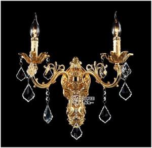 Venta al por mayor de cristal de oro aplique de pared de plata apliques de pared de cristal de la pared soportes de la lámpara envío gratis