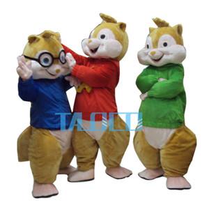 Fabrika Doğrudan Satış Alvin ve Sincap Karakterler Karikatür Maskot Kostüm