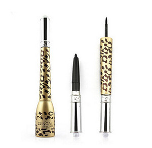 New Fashion Makeup Eye One Pc Leopard Shell Thick Black Eyeliner Liquid Makeup Cosmetic Waterproof Long lasting Eyeliner pen
