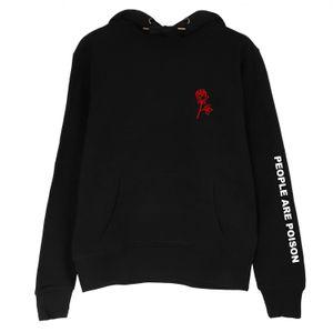 Оптовая Продажа-People Are Poison Rose Sleeve Print Hoodie Sweatshirt Black Tumblr Эстетика Бледно-Пастельная Гранж Эстетика 2017