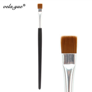 Großhandel 10 teile / los Flache Definer Pinsel Augen Make-Up Pinsel Eyeliner Make-Up-Tool Lidschatten Schwarz Braun Synthetische Haar