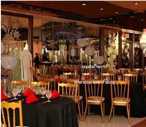 حفل زفاف الكريستال الممشى زهرة موقف / عمود موقف للأرضيات ترتيب الزهور
