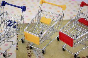 Mini Süpermarket Handcart Yardımcı Alışveriş Sepeti Modu Depolama Organizer Chidren Hediye Çocuk Oyuncak