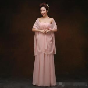 Chal largo de novia de gasa Envolturas nupciales por encargo Bufandas de protección solar Tamaño 200cmX75cm Rojo Púrpura Rosa Amarillo o Color personalizado