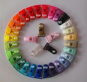 Nuevos colores múltiples 100 unids 20 MM Clips de plástico Clips de chupete transparentes Soother Holder safe For Baby Pacifier Envío gratis