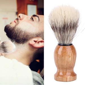 Brosse de rasage pour hommes Nylon et poils de blaireau Barber Salon Facial Barbe Nettoyage Rasage Outil Rasoir Brosse