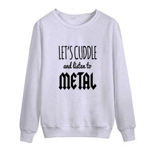 Новый слушать металл Музыка 2018 осень это я печатных мужчин O шеи Майка повседневная с длинным рукавом Slim Fit