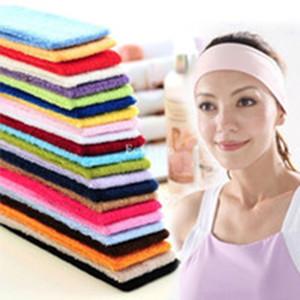 Şeker renk spor Gym Yoga zayıflama elastik saç baş bandı bandı ter bandı