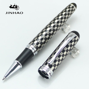 High quality JINHAO 750 Greu And Silver Roller Ball Ben Chessboard Stationery School&Office Writing Pensluxury writing gift pens Wholesale