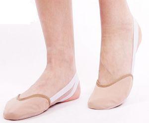 Media media de lona de ballet Eurythmics Traje de danza del vientre suela de cuero