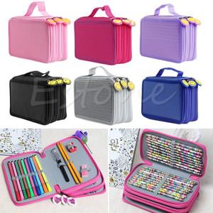 Estojos Fabric Pencil Bag portátil Desenho de esboço Lápis Pen Titular Caso Bag 52Pcs Lápis Novo