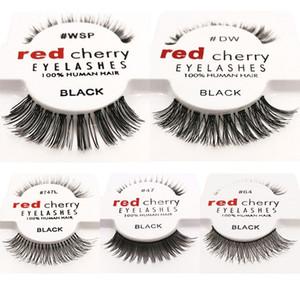15 أساليب RED CHERRY الرموش الصناعية الطبيعية طويل العين جلدة تمديد ماكياج المهنية فو رمش مجنح وهمية شحن جلدة DHL