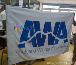 150X90cm Banner in tessuto con stampa personalizzata, 10 pezzi / lotto. Bandiera della squadra, bandiera del club, stampa della bandierina di LOGO, bandiere di pubblicità del poliestere, trasporto libero