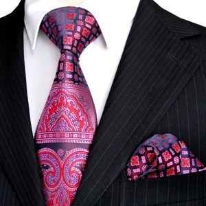 E4 Tie Sets rosa azul marino púrpura floral patrón Mens corbata pañuelo 100% seda nuevo envío gratis