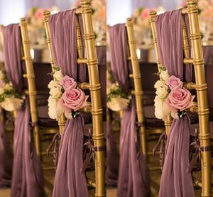 Romantico Oceanfront cerimonia nuziale del giardino della sedia della copertura posteriore di alta qualità Sashes telai della sedia di compleanno di Natale formale nozze telai della sedia