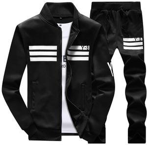 Hommes Vêtements de sport à capuche et sweat-shirts Jogger d'hiver Noir Blanc Automne Mens Costume sport Survêtement Survêtement Set Plus Size M-4XL
