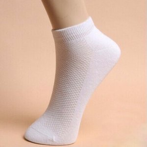5Pair Hombres Calcetines de los Hombres Sports Summer Malla Transpirable Deporte Thin Boat Calcetines para Hombre Sólido Blanco Socks Socks Marca Human