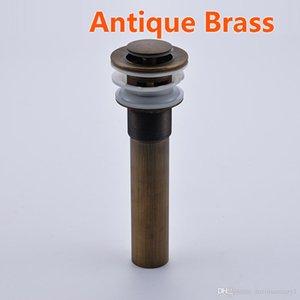 Scolo del bagno Ottone antico Art Style Sink Strainer Stoper Pop up Vessel Bacino di scarico con troppopieno Nuovo
