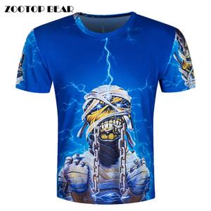 x201711 Bande de métal lourd 3D T-Shirt Hommes T-shirts Drôles Psychedelic Tops Hip Hop Camisa T-shirt de Mode Manches Courtes ZOOTOP BEAR