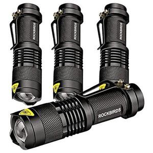 Rockbirds LED Flashlight, A100 Mini Super Bright 3 mode lampe de poche tactique, meilleurs outils pour la randonnée, la chasse, la pêche et le camping