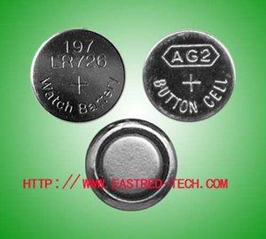 5000PCS في الكثير AG2 LR59 396A LR726 SR726 197 ساعة بطاريات الخلايا 1.5V بطارية زر قلوية