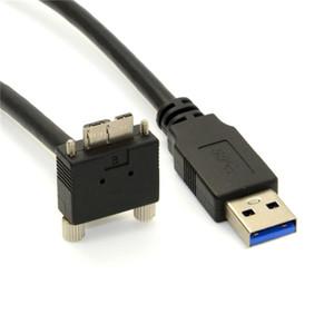 10 футов 3 м 90 градусов вниз угловой микро USB винт крепление к USB 3.0 кабель для передачи данных для точки серый Хамелеон камеры