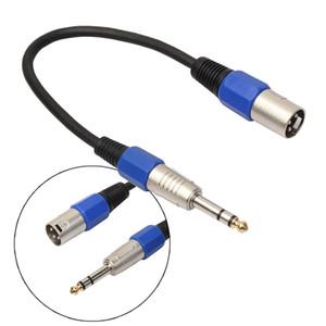 """Freeshipping 10PC \ Lot 35cm 3P XLR macho Jack a 1/4 """"6.35mm hembra enchufe adaptador de micrófono estéreo Cable con conectores niquelados"""