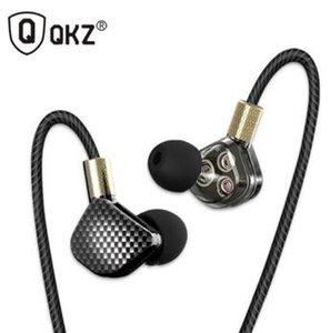 QKZ KD6 Kulaklık 6 Birimleri Dengeli Armatür BA Sürücüleri Kulak Monitörü Gürültü Iptal Özel Kulaklık fone de ouvido auriculares