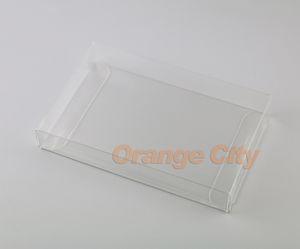 Transparent transparent pour SNES Game Cartouche Box Protector Case CIB jeux plastique PET Protector pour boîtes de jeu
