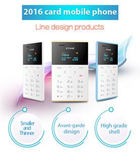 2018 الأطفال الرخيصة نمط جديد صغير الحجم IFcane E1 بطاقة الهاتف مصغرة الهاتف المحمول رقيقة جدا مصغرة بطاقة الائتمان الهاتف FM راديو مصغرة الهواتف الرخيصة