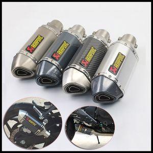 38-51 mm Akrapovic Universal Motocicleta Escape Silenciador Tubo de ventilación Silenciador Slip On W / DB Killer Fit Para la mayoría de motocicletas GSXR CBR