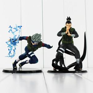 Anime Naruto Shikamaru Nara Hatake Kakashi PVC-Tätigkeits-Abbildung sammelbares vorbildliches Spielzeug für Kindgeschenk 23cm freier Verschiffeneinzelverkauf