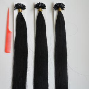 20 polegada U Dica Prego Extensões de Cabelo Brasileiro Cabelo Humano Queratina Extensões de Cabelo de Fusão 50 fios de cabelo