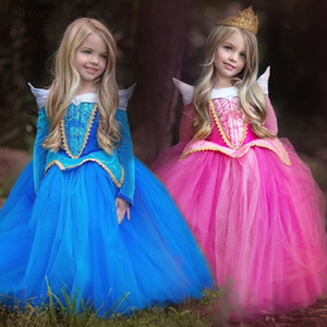 PrettyBaby 2016 all'ingrosso neonate vestito congelato Sleeping Beauty Princess Dress Aurora Princess Dress Cosplay Abiti Christmas Dress