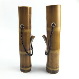 piattaforme petrolifere bong di bambù 10,5 pollici 8mm di spessore tubi per acqua da fumo bong riciclatore con tubo di metallo più recente mini bong piattaforma petrolifera