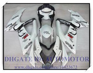 Injeção 100% brand new carenagem kit apto para Suzuki GSXR600 k8 2008 2009 GSXR750 2008 2009 GSX-R600 GSX-R750 08-09 COR BRANCO # HA635