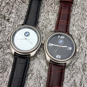 Reloj de pulsera de cuarzo con correa de cuero para hombre de marca BM, reloj BM02