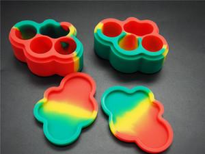 Contenedores de cera antiadherente en forma de nube recipiente de silicona 22ml frascos de grado alimentario herramienta dab tarro de almacenamiento recipiente de aceite para vaporera vaporizador aprobado por la FDA