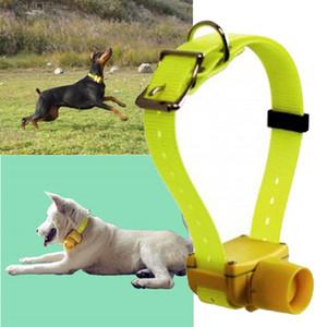 Nueva marca a prueba de agua 8 sonido de bíper sonido de caza perro de caza integrado collar de entrenamiento para perros con correa de nylon segura