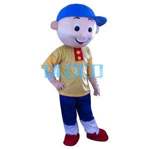 2 estilo Caillou menino mascote traje menino Mascot HOT-venda Costume Adult transporte livre venda