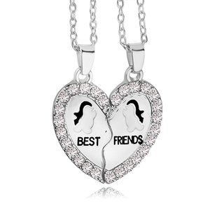 2018 New Design BFF Collana pendente Amicizia Best Friends Forever Collane Ancoraggio pinguino all'ingrosso per il miglior amico ZJ-0903711