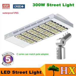 300W LED Straßenlaterne Straßenlaterne LED Straßenlaterne Gartenbeleuchtung Chip Meanwell Fahrer (UL SAA) Matched Pol Adapter 5 Jahre Garantie