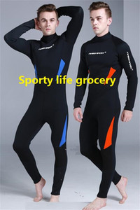 High end men's 3mm thickness wetsuit long sleeve one piece style diving wetsuit anti-UV snorkelling surfing water sports wear