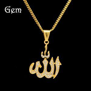 Партия Rhinestone Hip Hop Gold Jewlery Лучшие качества Символ подвеска ожерелья Роскошный Jewellry для мальчика 2020 Новый