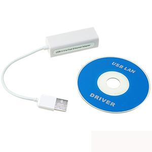 Ücretsiz Kargo USB 2.0 Erkek RJ45 Kadın 10/100 Mbps Ethernet LAN Dönüşüm Adaptör Kablosu Tablet PC Için